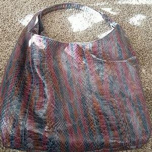 Snake skin hobo bag